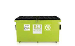 Rear-loading containers (recycling)